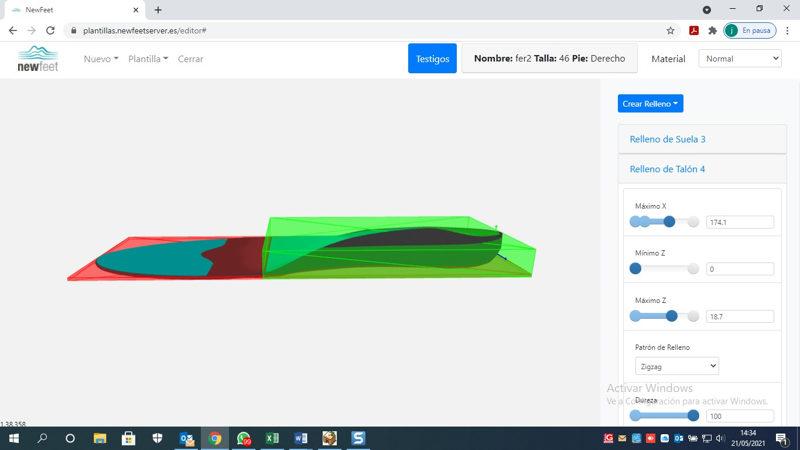 Pantalla impresora 3D Newfeet- Herbitas para añadir relleno
